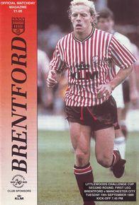 brentford away 1989 to 90 prog