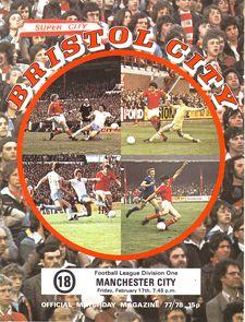 bristol city away 1977 to 78 prog