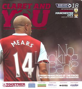burnley away 2009 to 10 prog