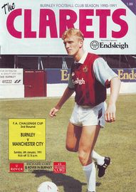 burnley fa cup 1990 to 91 prog