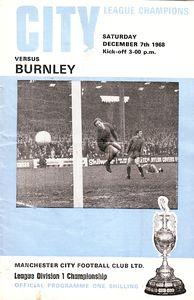 burnley home 1968 to 69 prog