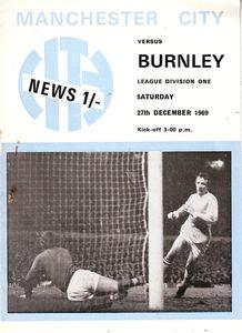 burnley home 1969 to 70 prog