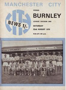 burnley home 1970-71 programme