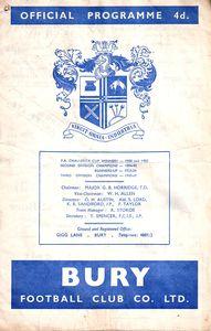 bury away 1963 to 64 prog