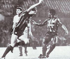 bury away milk cup 1985 to 86 melrose goal3