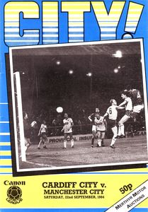 cardiff away 1984 to 85 prog