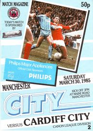 cardiff home 1984 to 85 prog