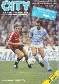 charlton home 1986 to 87 prog