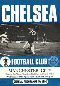 chelsea away 1970-71 ECWC Programme