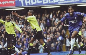 chelsea away 2005 to 06 drogba 2nd goal