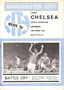chelsea home 1970-71 programme