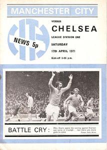 chelsea home 1970-71 programme