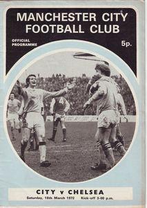 chelsea home 1971-72 programme