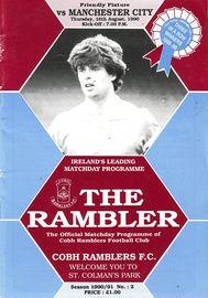 cobh ramblers 1990 to 91 prog