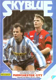 coventry away 1990 to 91 prog