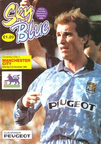 coventry away 1992 to 93 prog