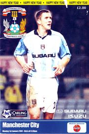 coventry away 2000 to 01 prog