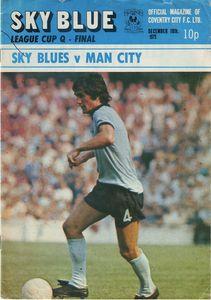 coventry away league cup 1973 to 74 prog