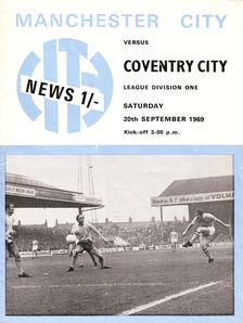 coventry home 1969-70 programme