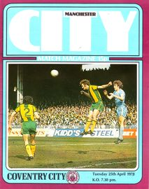 coventry home 1977 to 78 prog