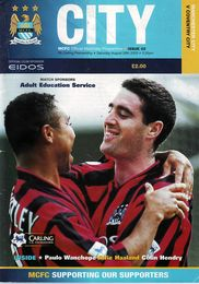 coventry home 2000 to 01 match prog