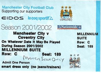 coventry home 2001 to 02 ticket