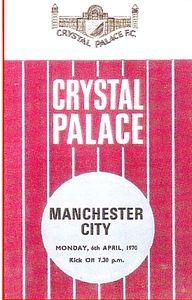 crystal palace away 1969 to 70 prog
