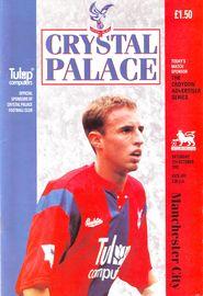 crystal palace away 1992 to 93 prog