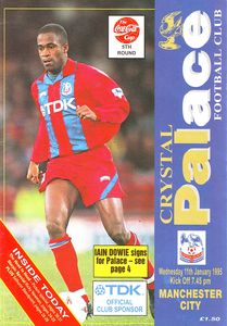 crystal palace cola cup away 1994 to 95 prog