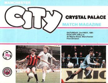 crystal palace home 1980 to 81 prog