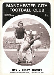derby home 1972-73 programme