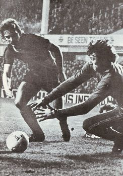 everton away 1979 to 80 action