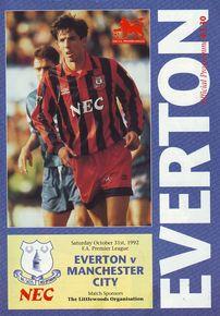everton away 1992 to 93 prog