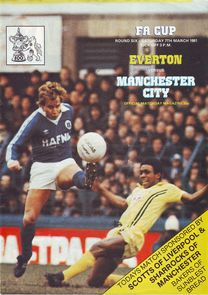 everton away FA Cup 1980 to 81 prog