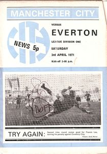 everton home 1970-71 programme