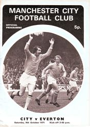everton home 1971-72 programme