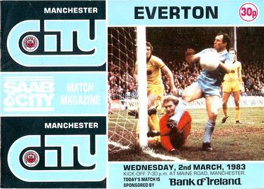 everton home 1982 to 83 prog