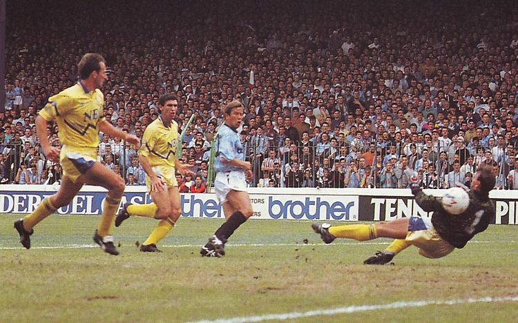 everton home 1990 to 91 heath goal