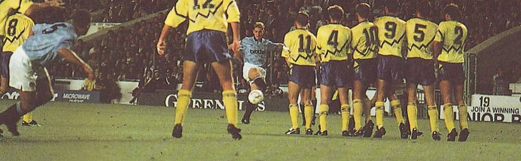 everton home 1991 to 92 action