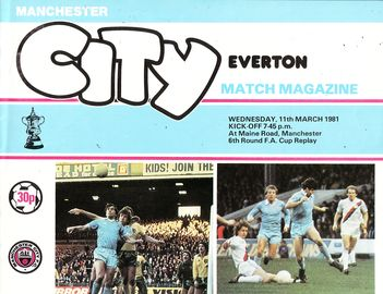 everton home FA Cup 1980 to 81 prog
