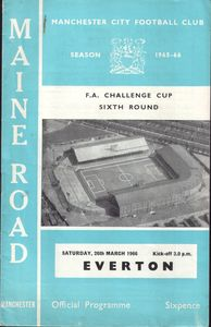 everton home fa cup 1965-66 programme
