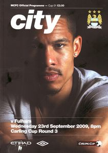fulham home carling cup 2009 to 10 prog