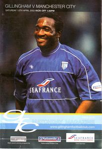 gillingham away 2001 to 02prog