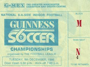 guinness soccer 6 1986 to 87 ticket
