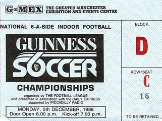 guinness soccer 6 1988 to 89 ticket