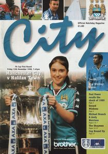 halifax home fa cup 1998 to 99 prog