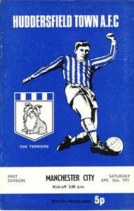 huddersfield away 1970-71 programme