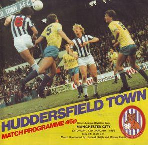 huddersfield away 1984 to 85 prog