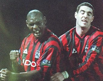 huddersfield away 1999 to 00 goater goal