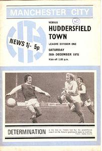 huddersfield home 1970-71 programme